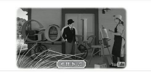 Google Doodle on Charlie Chaplins Birthday