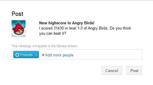 Google Plus Game Stream Updates