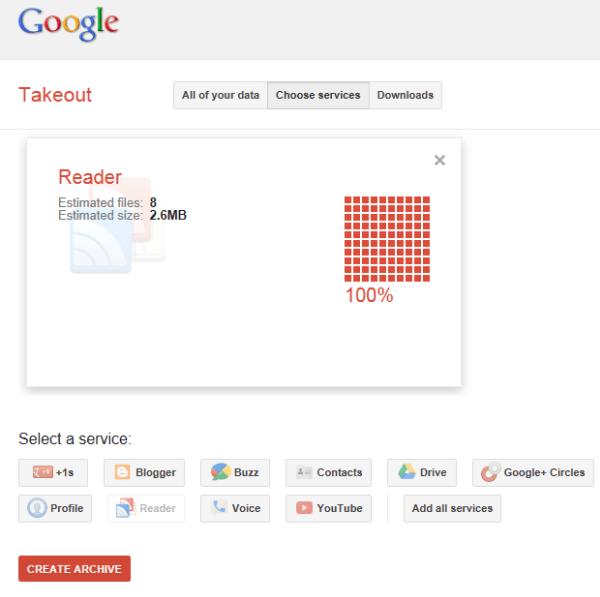 Google Reader Takout