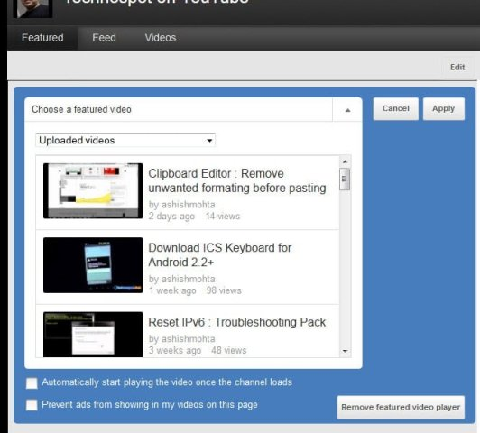 How to Add Features Video in YouTube Channel