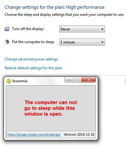 Insomnia for Windows