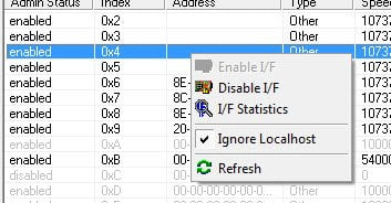 Interface Stats using Ip Config