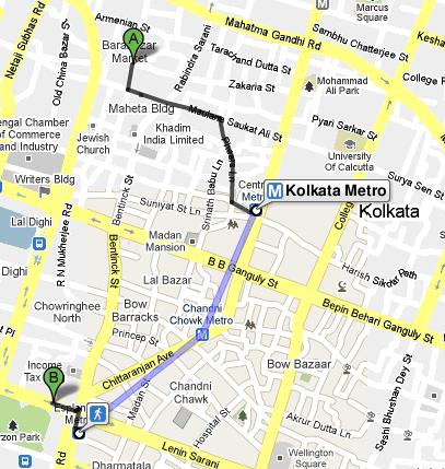 Metro in Google Maps