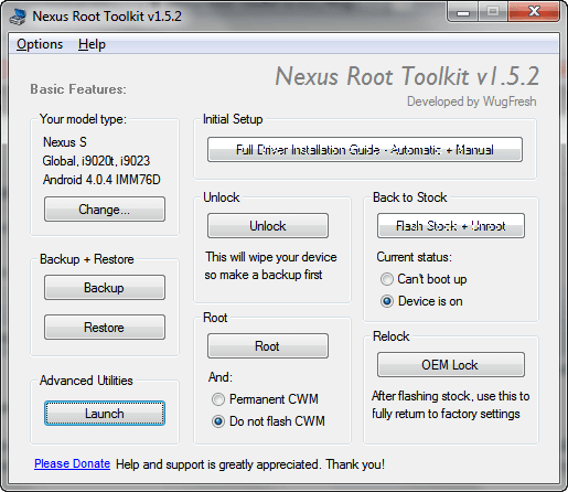 Nexus Root Toolkit