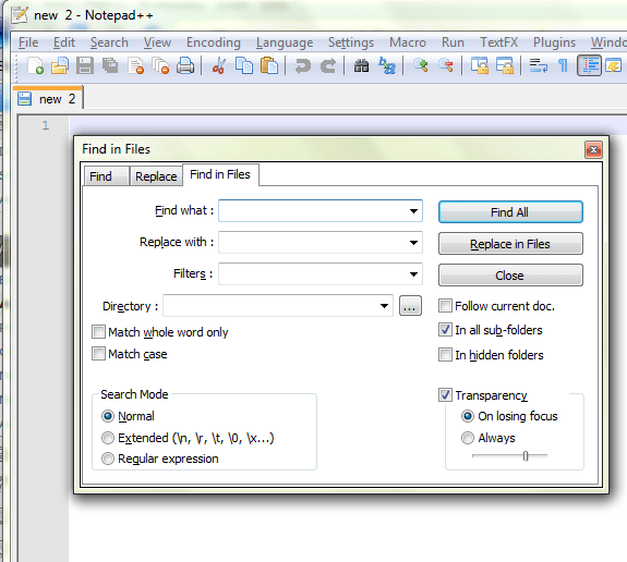Search replace text multiple files