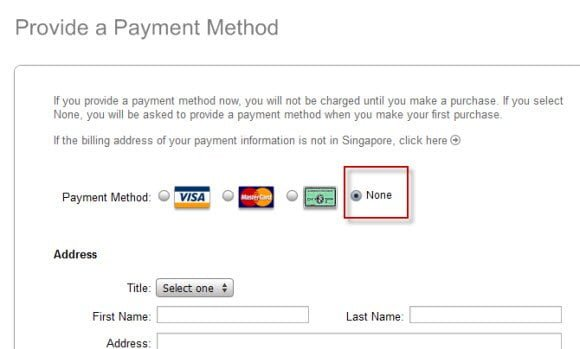 Payment Method iTunes Account
