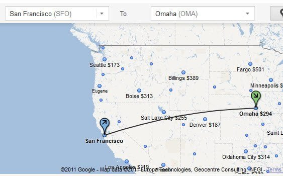 Price list for every Airport in Google Flight Map
