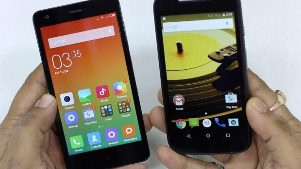 Redmi 2 vs Moto E Cover