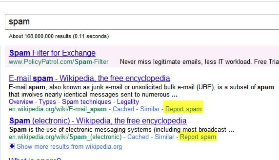 Report Smap link in Search Result