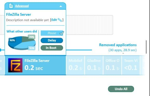 Soluto Removed Applications