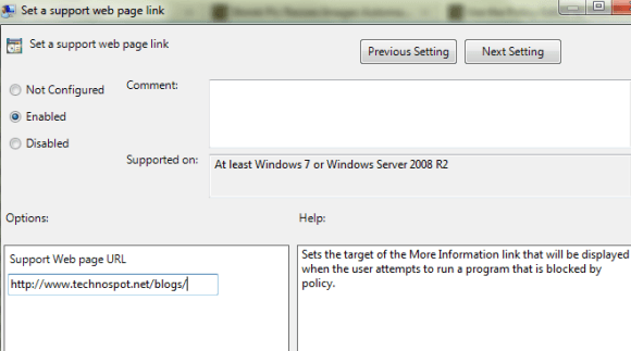 Support Page for Windows