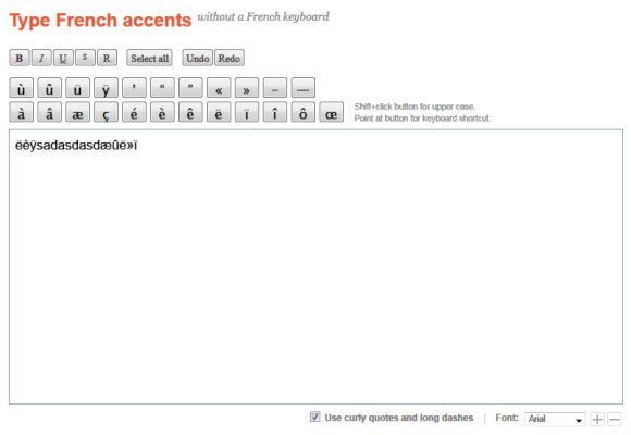 Type French Accent