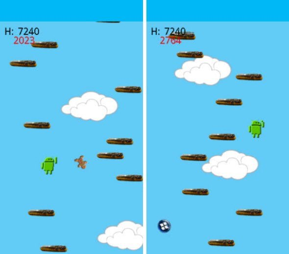 Very addictive free game for Android Droid Jump