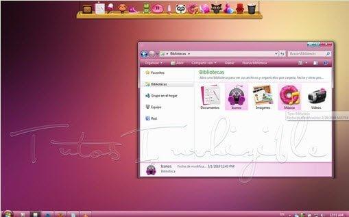 Vista Pink Pastel Theme
