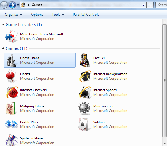 Windows 7 Games Detail