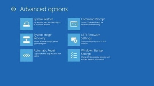 Windows 8 Advance Settings
