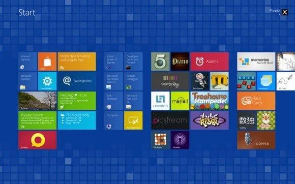 Windows 8 Metro Theme Tiles Series Blue