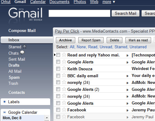 Shniy Theme for Gmail