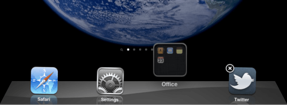 iPad Move folder to dock