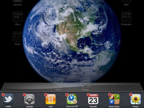 iPad close Background Applications