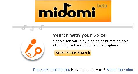 Midobi : Record Your voice and Search