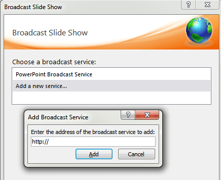Add more service to Broadcast