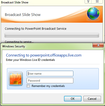 Broadcasting using the live user id
