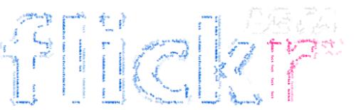 Image created after Textorizing Flickr Logo