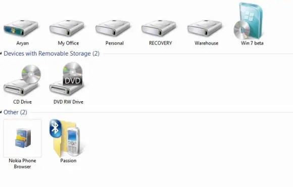 Windows 7 Hide drive letters