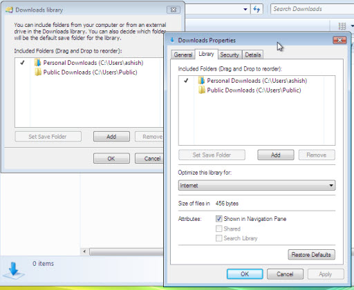 Windows 7 Library and Multi-view features