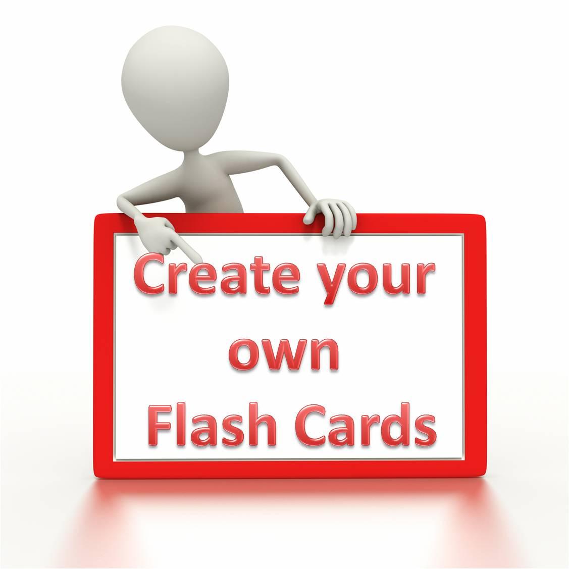 microsoft word flash cards