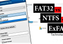 Difference between fat32 and ntfs and exfat
