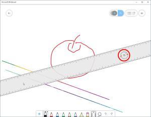 角度ゲージが回転の中心