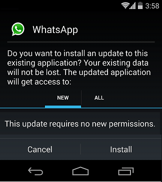 WhatsApp-update-installation