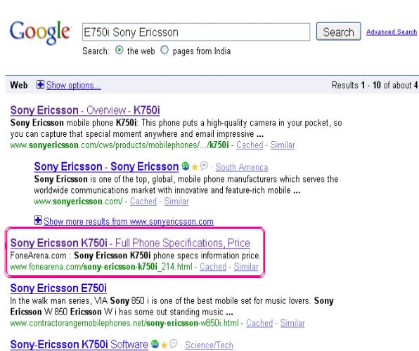 fonearena-Google-SERP