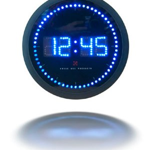 round-led-digital-clock