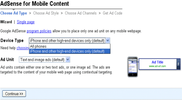 iPhone-adsense-ads