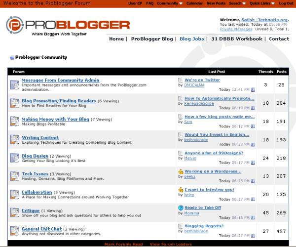 problogger-community-forum