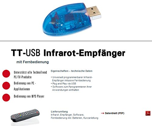 Manual (english) for TechnoTrend USB Infrared remote control