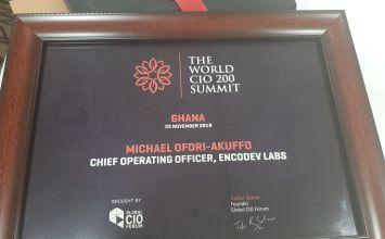 Michael Ofori-Akuffo Of EgoTickets Named Master CIO At World CIO 200 Summit