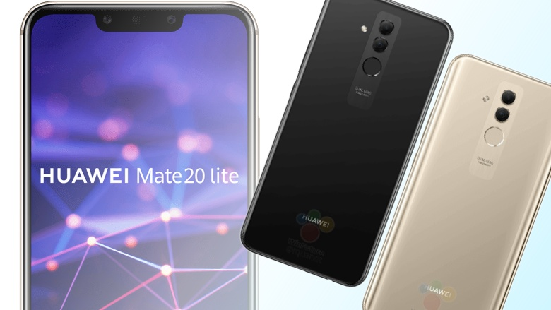 Huawei Mate 20 Lite : Its design, revealed by a leak