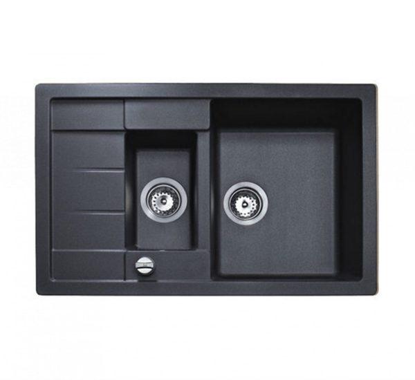 мивка за вграждане обръщаема авт. клапан за шкаф със светъл отвор 60 см ASTRAL 60 B TG ЧЕРЕН МЕТАЛИК