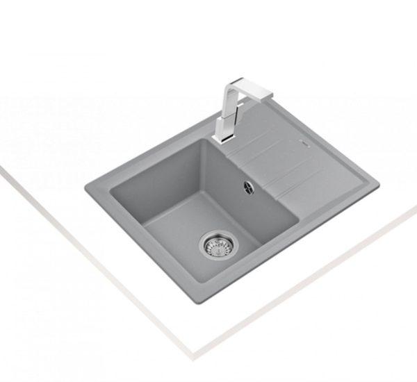 мивка обръщаема за шкаф 45 см STONE 45 S TG СИВ МЕТАЛИК 1