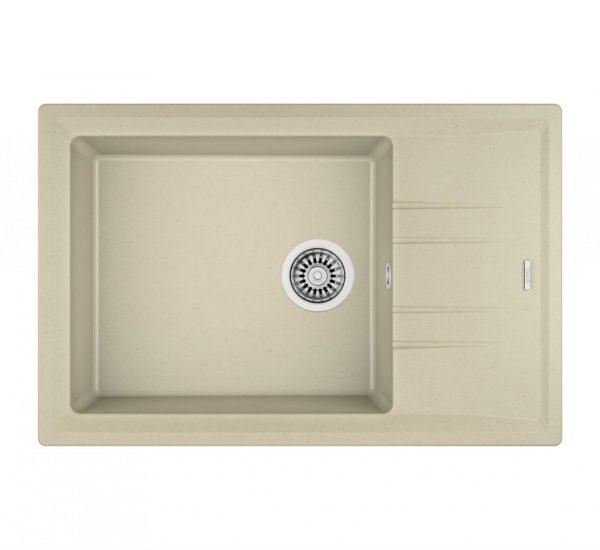 мивка обръщаема за шкаф 60 см STONE 60 S TG СЛОНОВА КОСТ