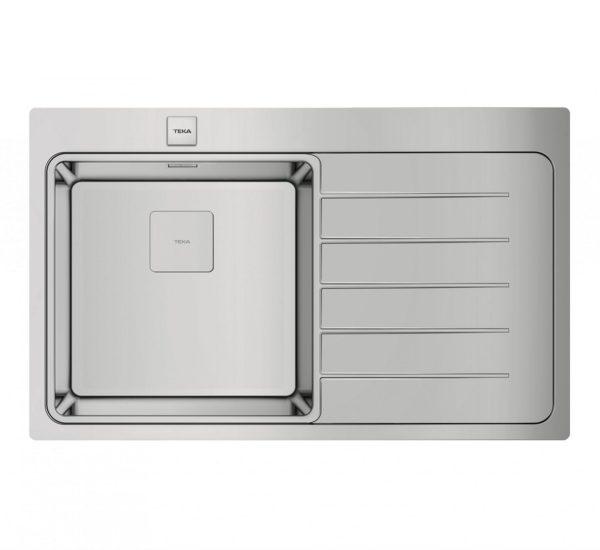 мивка за вграждане гладка десен отцедник авт. клапан за шкаф със светъл отвор 50 см ZENIT RS15 1C 1E ДЯСНА