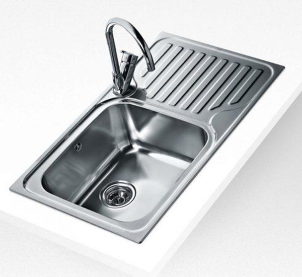 мивка за вграждане гладка десен отцедник за шкаф със светъл отвор 60 см SUPER BOWL 1C 1E MAX ГЛАДКА ДЯСНА