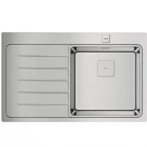 мивка за вграждане гладка ляв отцедник авт. клапан за шкаф със светъл отвор 50 см ZENIT R15 1C 1E ЛЯВА