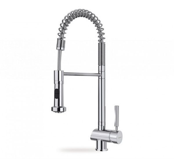 смесител душ с 2 вида струи на водата въртящ се чучур хром