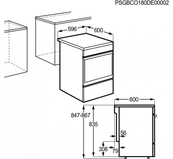 AEG Готварска печка с индукционен плот AEG CIB6643ABM STEAMBAKE 60см 5