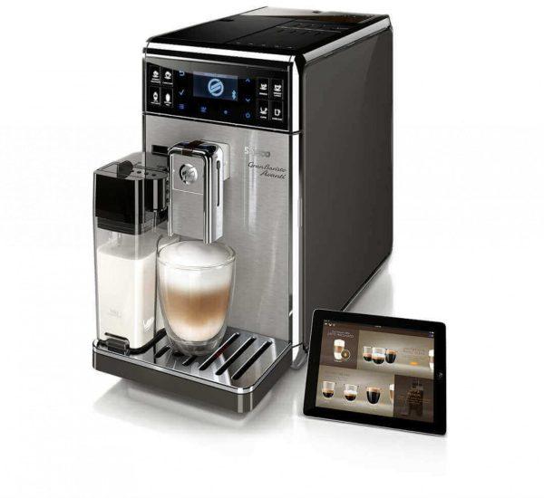 Saeco Кафеавтомат Saeco GranBaristo Гарафа AquaClean Керамични мелнички 18 вида кафе 15 бара 1